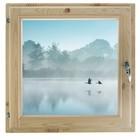 "Окно 50х60 см, ""Туман над рекой"", двойной стеклопакет, хвоя, ""Добропаровъ"""