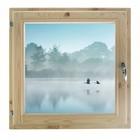 "Окно 60х60 см, ""Туман над рекой"", двойной стеклопакет, хвоя, ""Добропаровъ"""