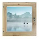 "Окно 60х70 см, ""Туман над рекой"", двойной стеклопакет, хвоя, ""Добропаровъ"""