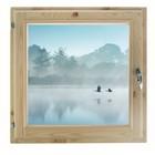 "Окно 70х70 см, ""Туман над рекой"", двойной стеклопакет, хвоя, ""Добропаровъ"""