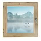 """Окно 90х90 см, """"Туман над рекой"""", двойной стеклопакет, уплотнитель, хвоя, """"Добропаровъ"""""""