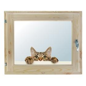Окно, 40х60см, Декор 13, двойной стеклопакет (хвоя) Добропаровъ Ош