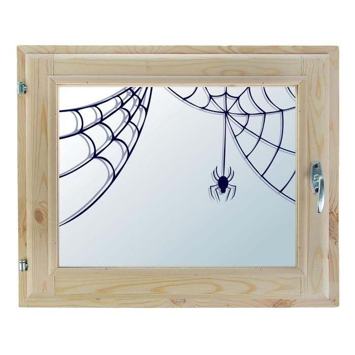 """Окно 40х60 см, """"Паучок"""", двойной стеклопакет, хвоя, """"Добропаровъ"""""""