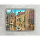 """Painting on wood in Loft style, """"Venice"""" 56*42 cm"""