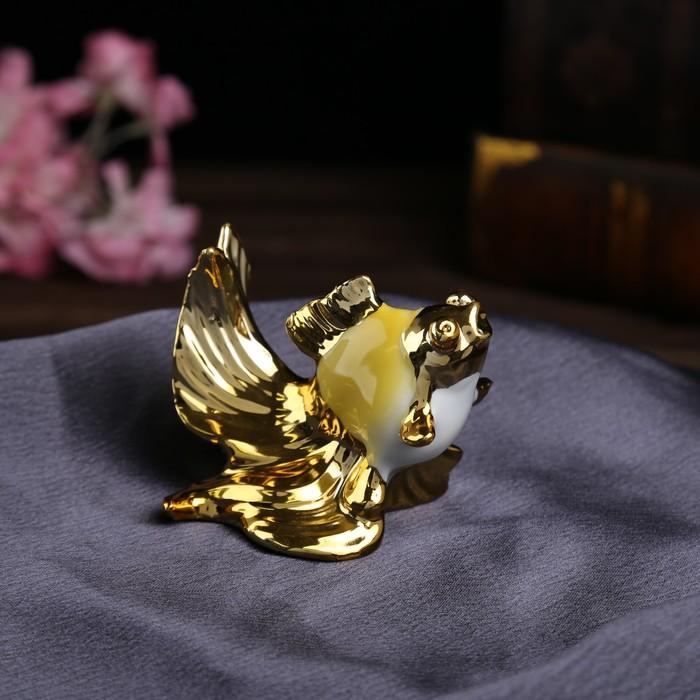 """Сувенир """"Яркая рыбка с золотым хвостом"""" набор 4 шт. 6х10,5х11 см"""