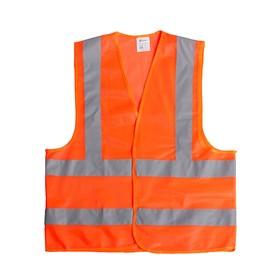 Жилет сигнальный TORSO, светоотражающий, оранжевый, 3 класс, размер 2XL, гост