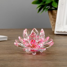 "Сувенир стекло ""Лотос розовый"" диам 9,5 см"