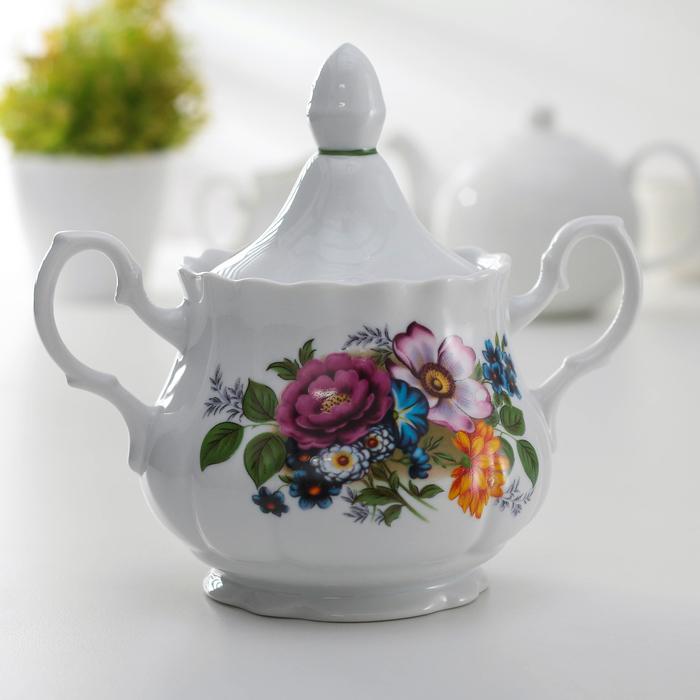 Сахарница «Букет цветов» 550 мл