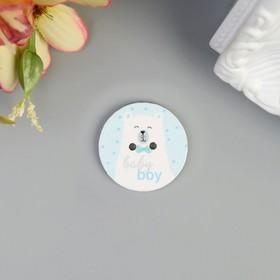 "Button ornamental tree ""Bear boy"", 2,5x2, 5 cm packing 20 PCs"