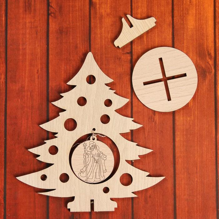 Сувенир «Елочка с дедом Морозом» на подставке