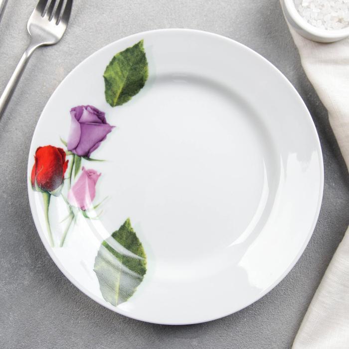 """Тарелка мелкая 24 см """"Королева цветов"""""""
