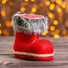 "The candy ""Boot"" with red bow, drawstring, capacity of 400 g"