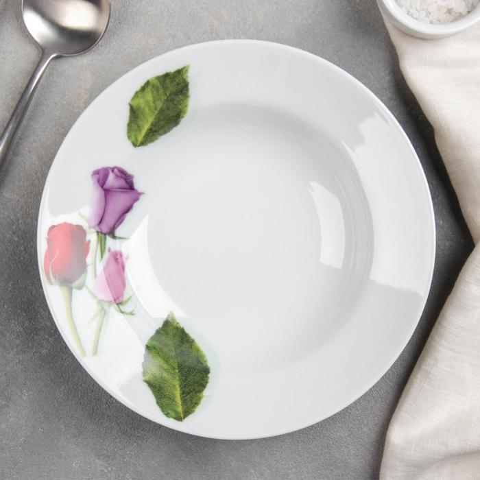 """Тарелка глубокая 20 см """"Королева цветов"""", 230 мл"""