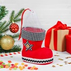 The candy Boots red, black and white star, capacity 400 g