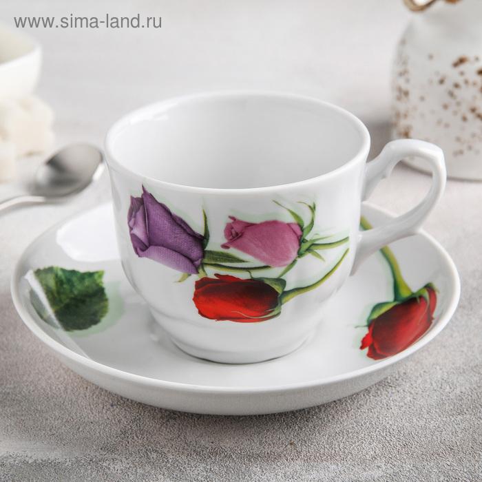 "Чайная пара 250 мл ""Королева цветов"""