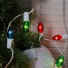 Набор ламп накливания, E12, 10 Вт, 50 штук, для гирлянд, белый/зеленый/красный/синий/желтый