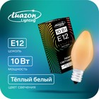 Incandescent bulb E12 10W for the lights and garlands, frosted, 220V