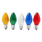 Набор ламп накливания, E12, 10 Вт, 50 штук, для гирлянд, белый/зелен/красн/син/желт, матовые