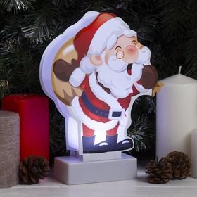 """Картинка световая на подставке """"Санта"""", SMD 2835, АА*3 (не в компл.), 8 LED"""