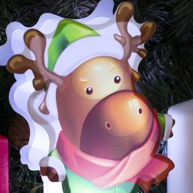 "Картинка световая на подставке ""Олень"", SMD 2835, АА*3 (не в компл.), 8 LED - фото 1549016"