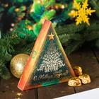 """Шоколадных конфеты в коробке-елке """"С Новым годом"""", зеленый, 100 г"""