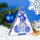 """Шоколадных конфеты в коробке-елке """"С Новым годом"""", серебро, 100 г"""