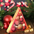 """Шоколадных конфеты в коробке-елке """"Пусть Новый год подарит радость"""", 100 г"""