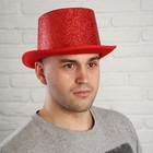 """Карнавальная шляпа """"Блеск"""", р-р 56-58, цвет красный"""