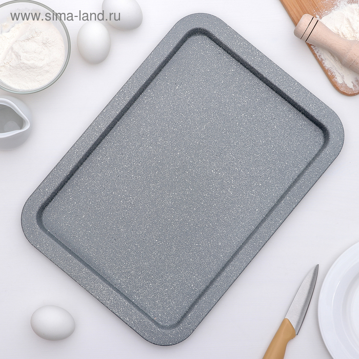"""Pan """"Marble.Rectangle"""", non-stick coating"""