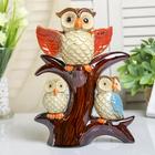 """Сувенир керамика """"Три совушки на дереве"""" 24,5х19х6,5 см"""