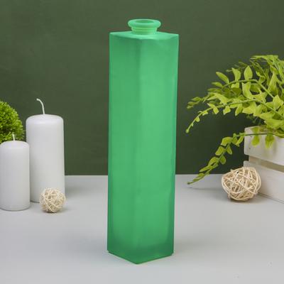 """Ваза """"Нарцисс"""" зеленый матовый d-2см; 5,5х 26,5см"""