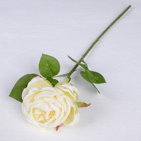 "Artificial flowers ""rose piano"" 8*45 cm, white"