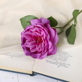 "Artificial flowers of ""rose of Austin"" 9*45 cm, purple"