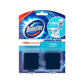 Туалетный кубик чистящий Domestos «Свежесть моря», 2 шт. по 50 г
