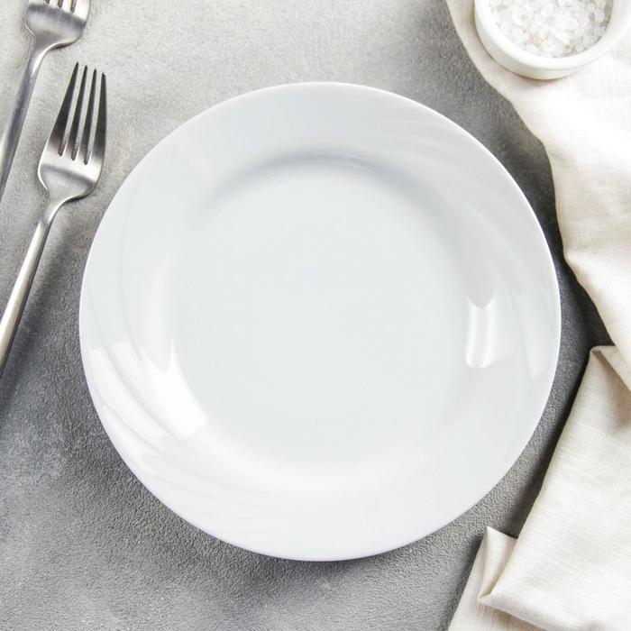 "Тарелка мелкая 20 см ""Белье"""