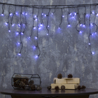 """Гирлянда """"Бахрома"""", 1.8 х 0.5 м, LED-48-220V, 8 режимов, нить тёмная, свечение белое"""