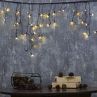 """Гирлянда """"Бахрома"""", 1.8 х 0.5 м, LED-48-220V, 8 режимов, нить тёмная, свечение тёплое белое"""