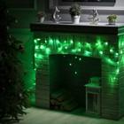 """Гирлянда """"Бахрома"""", 1.8 х 0.5 м, LED-48-220V, 8 режимов, нить тёмная, свечение зелёное"""