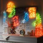 """Гирлянда """"Бахрома"""", 2.3 х 0.25 м, """"Месяц и фонарь"""" 8 фигур 120 ламп, 8 режимов, нить белая, свечение мульти"""