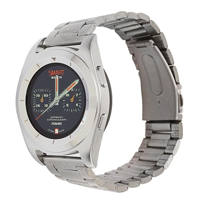 Часы умные NO.1 G6 серебро, ремешок сталь