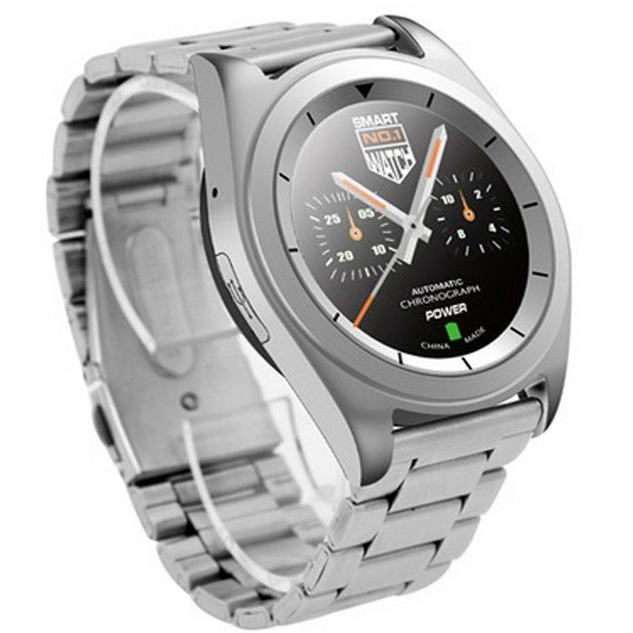 """Смарт-часы NO.1 G6, цветной дисплей 1.2"""", стальной ремешок, серебристые"""