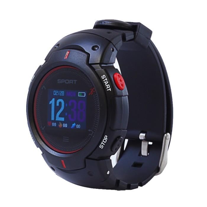 """Смарт-часы NO.1 F13, цветной дисплей 1"""", чёрно-красные"""