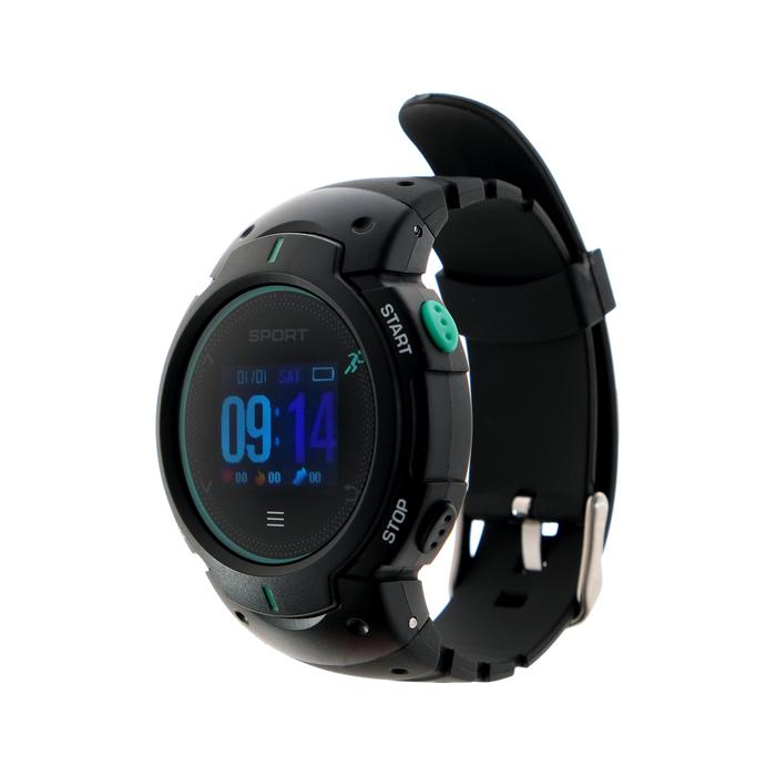 Умные часы NO.1 F13, чёрно-зелёные