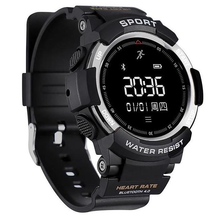 """Смарт-часы NO.1 F6, дисплей 0.96"""", серебристые с чёрным ремешком"""