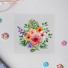 Термотрансфер «Букет цветов», 10 × 12 см