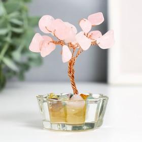 """Сувенир """"Денежное дерево в стекле"""" 18 камней МИКС 8,5х5х5 см"""