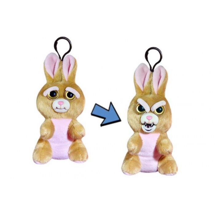 Мягкая игрушка с карабином Feisty Pets «Заяц», цвет коричневый, 11 см