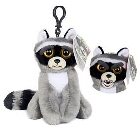 Мягкая игрушка с карабином Feisty Pets «Енот», цвет серый, 11 см