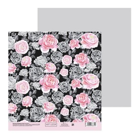 "Paper for scrapbooking ""Rose garden"", 20 × 21.5 cm, 180 g/m"