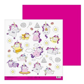 """Paper for scrapbooking """"Fun day"""", 30.5 × 32 cm, 180 g/m"""